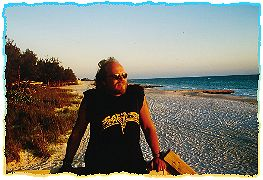 Der Cowboy on The Beach in South Florida